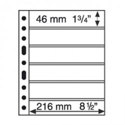 Hojas de plástico GRANDE, con 6 Bandas horizontales, negras
