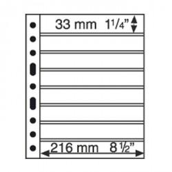 Hojas de plástico GRANDE, con 8 Bandas horizontales, negras