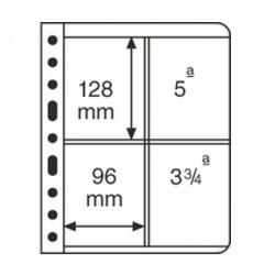 Hojas de plástico VARIO, 2 divisiones, división vertical, negro
