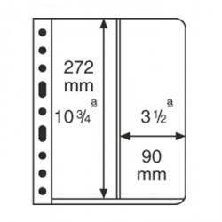 Hojas de plástico VARIO, 2 divisiones, división vertical, transparente