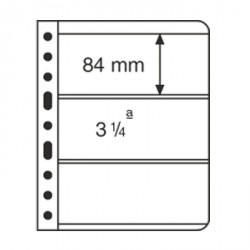 Hojas de plástico VARIO, 3 divisiones, transparente