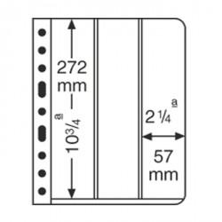 Hojas de plástico VARIO, 3 divisiones, división vertical, transparente