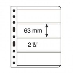 Hojas de plástico VARIO, 4 divisiones, transparente