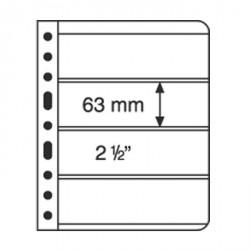 Hojas de plástico VARIO, 4 divisiones, negro