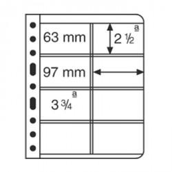 Hojas de plástico VARIO, 8 divisiones, para tarjetas Telefónicas, transparente
