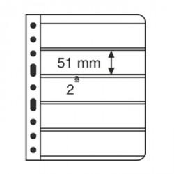 Hojas de plástico VARIO, 5 divisiones, transparente