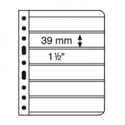 Hojas de plástico VARIO, 6 divisiones, negro