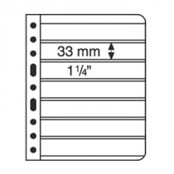 Hojas de plástico VARIO, 7 divisiones, transparente