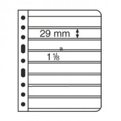 Hojas de plástico VARIO, 8 divisiones, negro