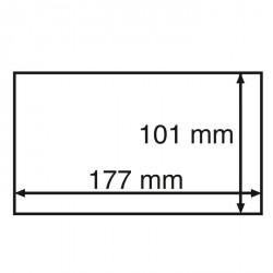 Cápsulas para billetes STABIL 156, formato int. 156 x 75 mm