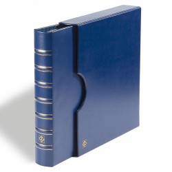 Tapas FOLIO, con cajetín protector, azul