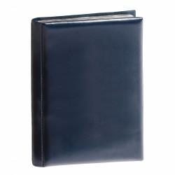 Álbum de bolsillo para monedas con 8 hojas, cada una para 12 monedas, azul