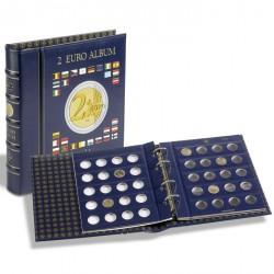 Álbum VISTA para monedas de 2 euros (4 Hojas neutras) con cajetín, azul