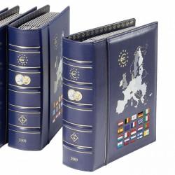 Álbum VISTA anual para monedas de euro 1999 a 2001 con cajetín protector, azul