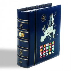 Álbum VISTA anual para monedas de euro 2011, con cajetín protector, azul