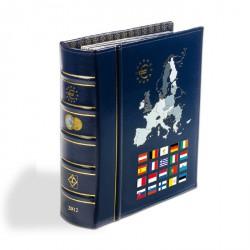 Álbum VISTA anual para monedas de euro 2012, con cajetín protector, azul