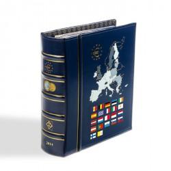 Álbum VISTA anual para monedas de euro 2014, con cajetín protector, azul