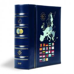 Álbum VISTA anual para monedas de euro 2015, con cajetín protector, azul
