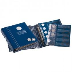 Álbum VISTA para las monedas conmemorativas de 10 euros alemanas, Tomo 1 con cajetín,azul