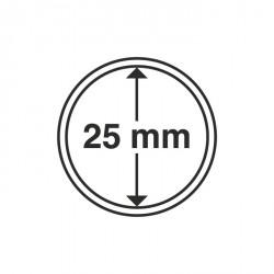 Cápsulas de monedas diámetro interior 25 mm