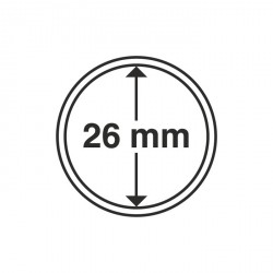 Cápsulas de monedas para 2 euros (diámetro interior 26 mm)