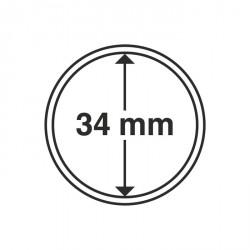 Cápsulas de monedas diámetro interior 34 mm