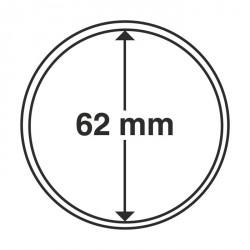 Cápsulas de monedas diámetro interior 62 mm