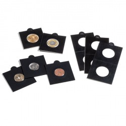 Cartones de monedas MATRIX, negro, diámetro 17,5 mm, autoadhesivos, 25 unidades
