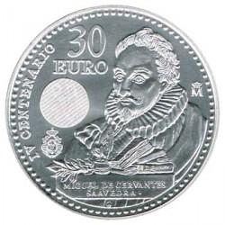 España 2016 30 Euros Plata Cervantes S/C