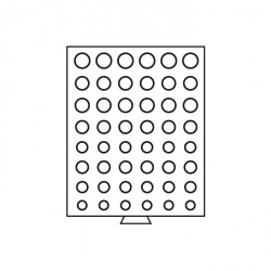 Bandeja para 6 series de monedas de euro de curso legal, gris
