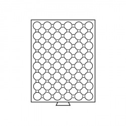 Bandeja para monedas 48 divisiones para CAPS 21,5, color humo