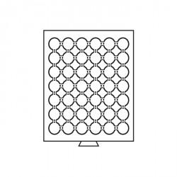 Bandeja para monedas 42 divisiones para CAPS 24, color humo