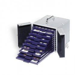 Maletín de aluminio CARGO S10 para 10 bandejas de Monedas SMART