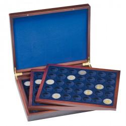Estuche para monedas VOLTERRA TRIO de Luxe, cada una para 35 monedas de 2 Euros en cápsulas