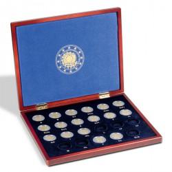 """Estuche VOLTERRA UNO para 23 monedas conmemorativas europeas de 2€ """"30º aniv Bandera UE"""""""