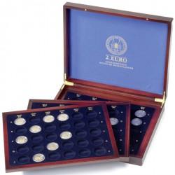 Estuche para monedas VOLTERRA TRIO de Luxe, para 80 monedas de 2€ Landers alemanes en cápsulas