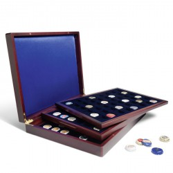 Estuche para monedas VOLTERRA TRIO de Luxe, cada una para 48monedas de 30mm+placas de cava