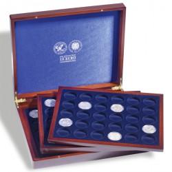 Estuche para monedas VOLTERRATRIO de Luxe, para 90monedas alem.de 10€ en cápsulas, grabado