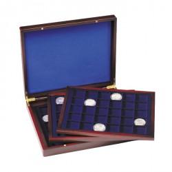 Estuche para monedas VOLTERRA TRIO de Luxe, cada una para 30 monedas cuadradas de 39 mm Ø