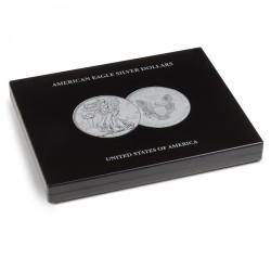 Estuche para 20 monedas de plata American Eagle en cápsulas, negro