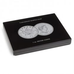 Estuche para 40 monedas de plata Maple Leaf en cápsulas, negro
