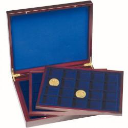 Estuche para monedas VOLTERRA TRIO de Luxe, cada una para 20 monedas cuadradas de 48 mm Ø