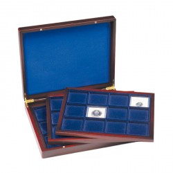 Estuche para monedas VOLTERRATRIO de Luxe, cada una para 12 monedas angular de 66 mm Ø