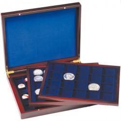 Estuche para monedas VOLTERRA TRIO de Luxe, para divisiones cuadradas de 30, 39, 48 mm Ø