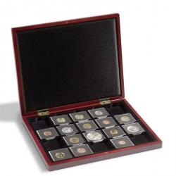 Estuche de madera para monedas con 30 divisiones esquinadas 50x50 mm p. QUADRUM,negro