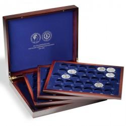 Estuche para monedas VOLTERRA QUATTRO de Luxe, para 123 monedas conmemorativas de la RDA