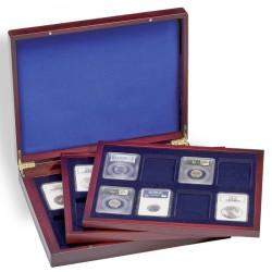 Estuche para monedas VOLTERRA TRIO de Luxe, cada una para 8 US-SLABS