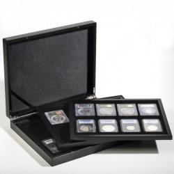 Estuche para monedas VOLTERRA TRIO de Luxe, cada una para 8 US-SLABS, negro