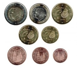 España 2016 Tira 8 valores S/C