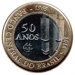 Brasil 2015 1 Real (50 años del Banco Central) S/C